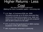 higher returns less cost