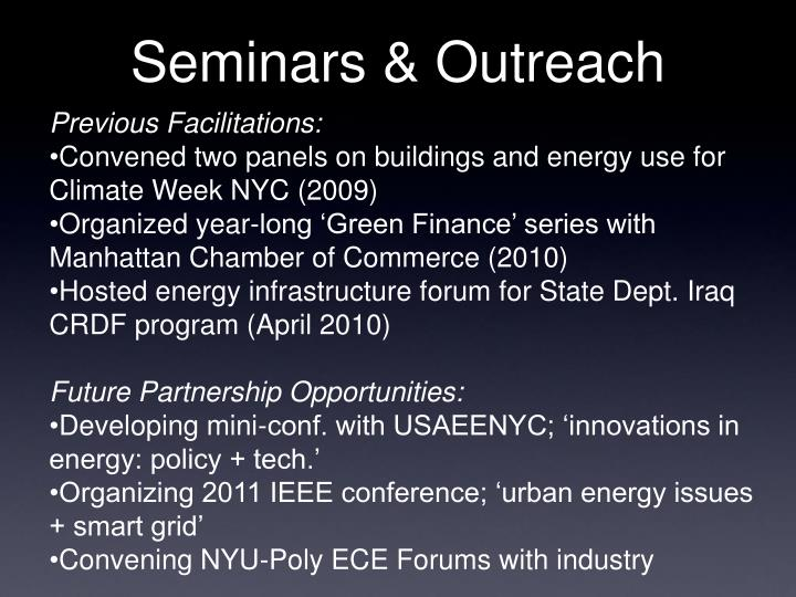 Seminars & Outreach