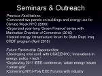 seminars outreach