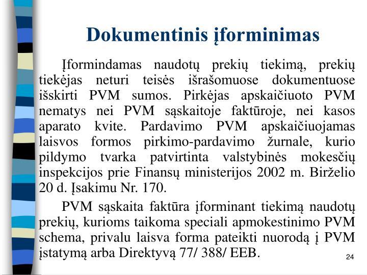 Dokumentinis įforminimas