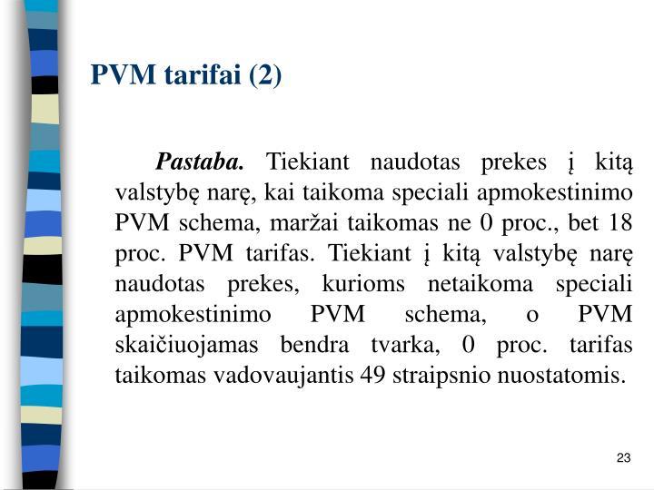 PVM tarifai (2)