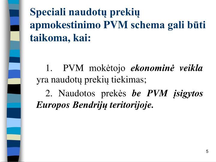 Speciali naudotų prekių apmokestinimo PVM