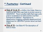 footnotes continued
