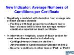 new indicator average numbers of conditions per certificate