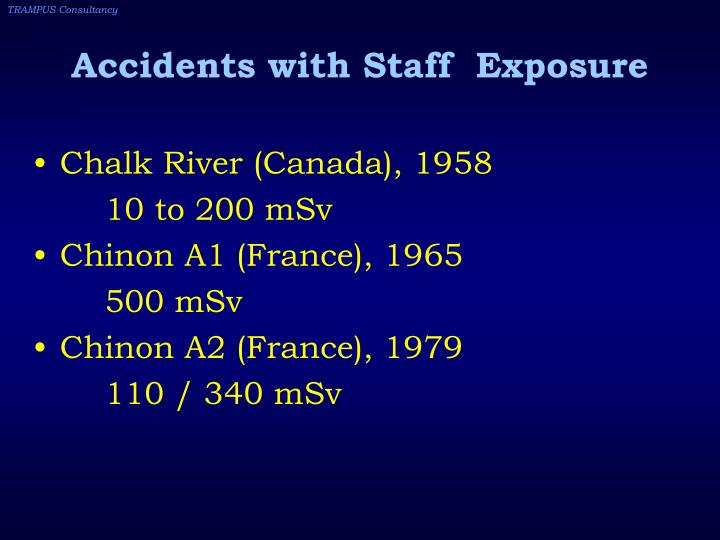 Accidents with Staff  Exposure