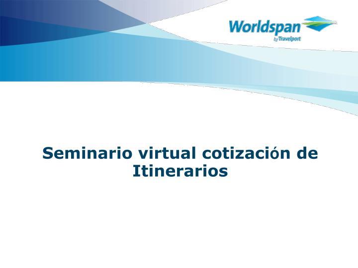 Seminario virtual cotizaci