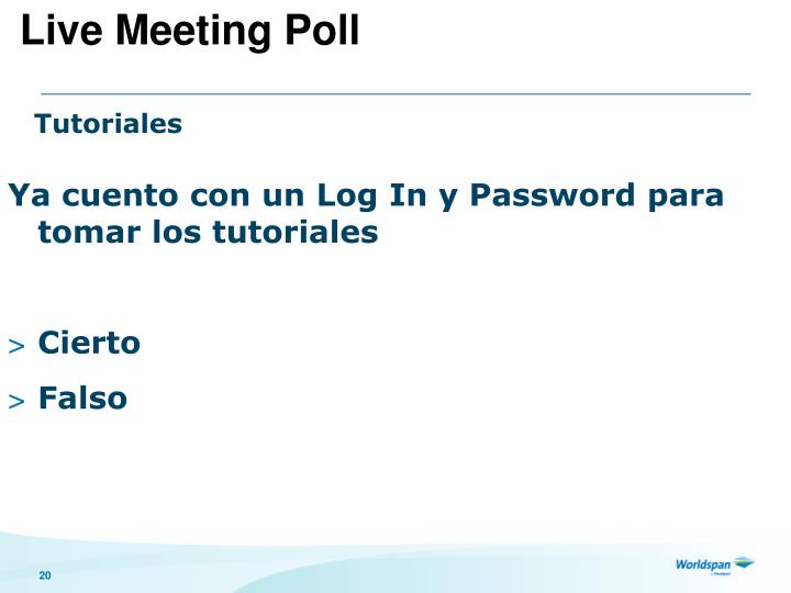 Live Meeting Poll