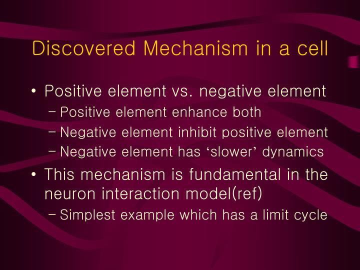 Discovered Mechanism in