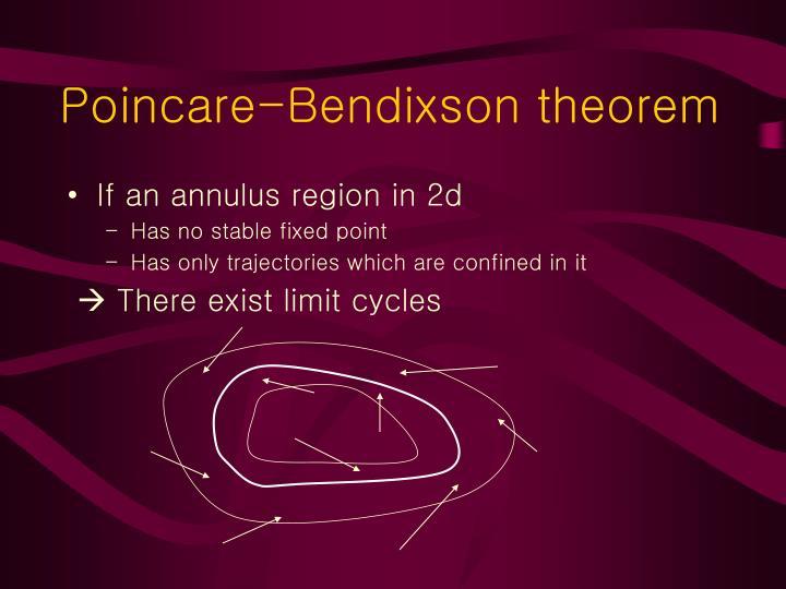 Poincare-Bendixson theorem
