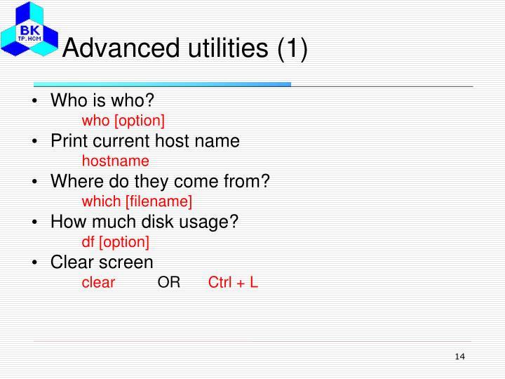 Advanced utilities (1)