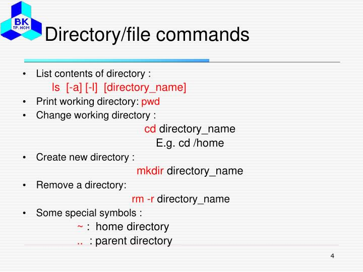 Directory/file commands