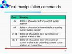 text manipulation commands