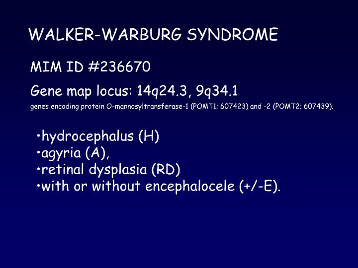 WALKER-WARBURG SYNDROME
