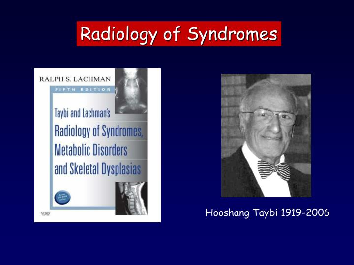 Radiology of Syndromes