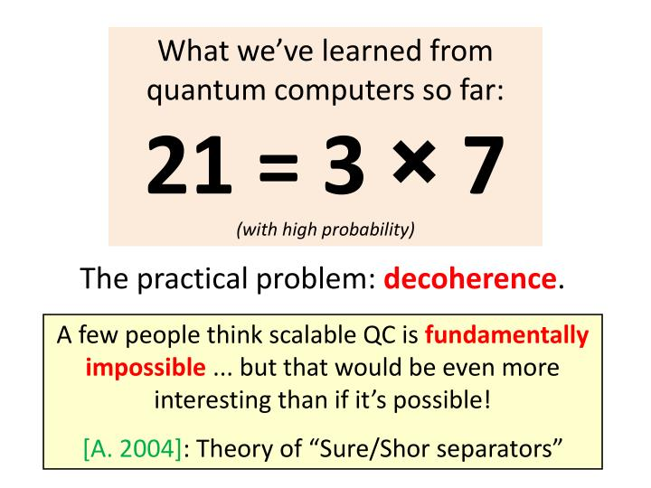 What we've learned from quantum computers so far:
