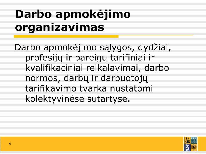 Darbo apmokėjimo organizavimas