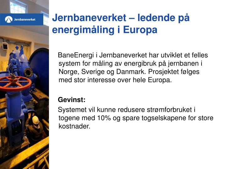 Jernbaneverket – ledende på energimåling i Europa