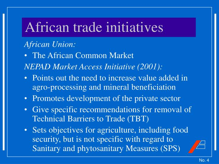 African trade initiatives