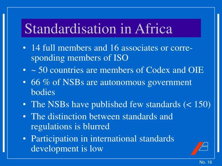 Standardisation in Africa
