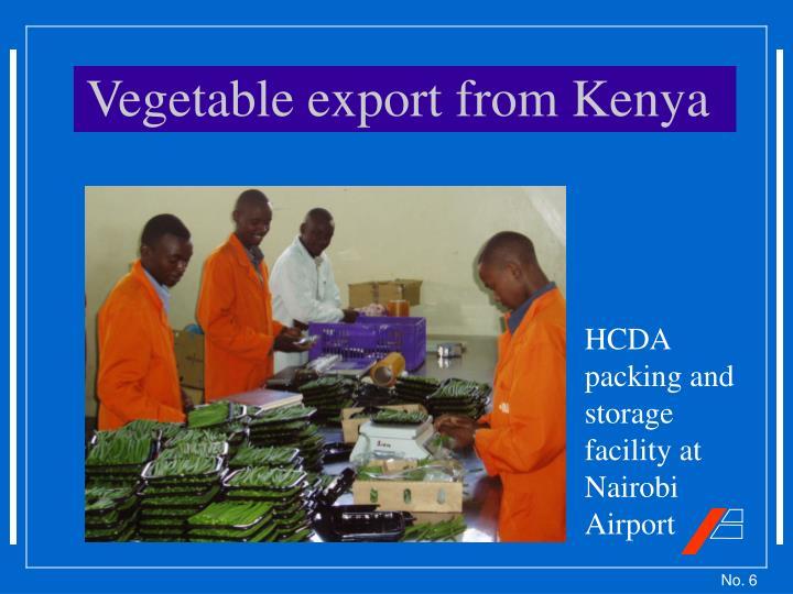 Vegetable export from Kenya