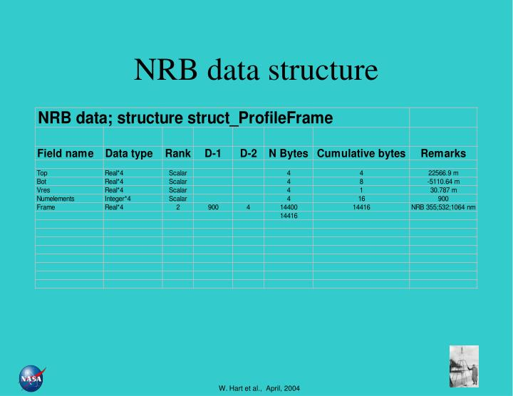 NRB data structure