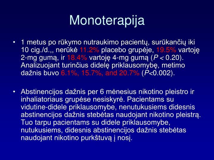 Monoterapija