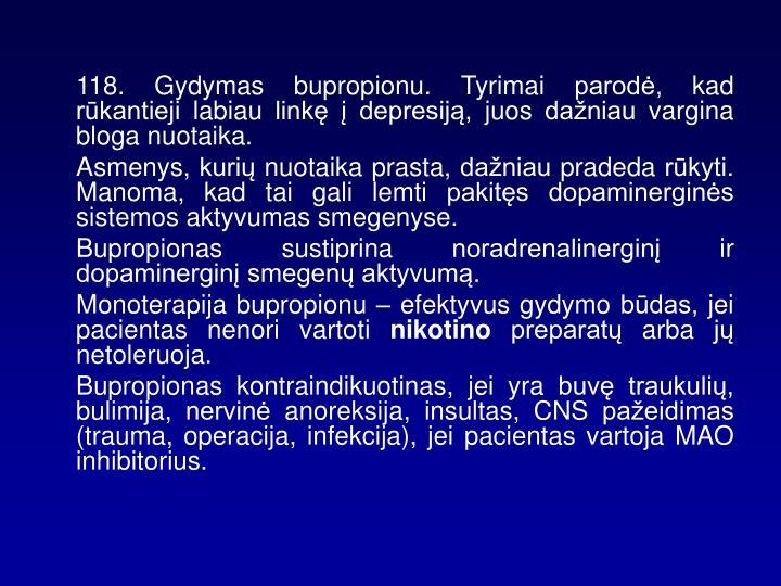 118. Gydymas