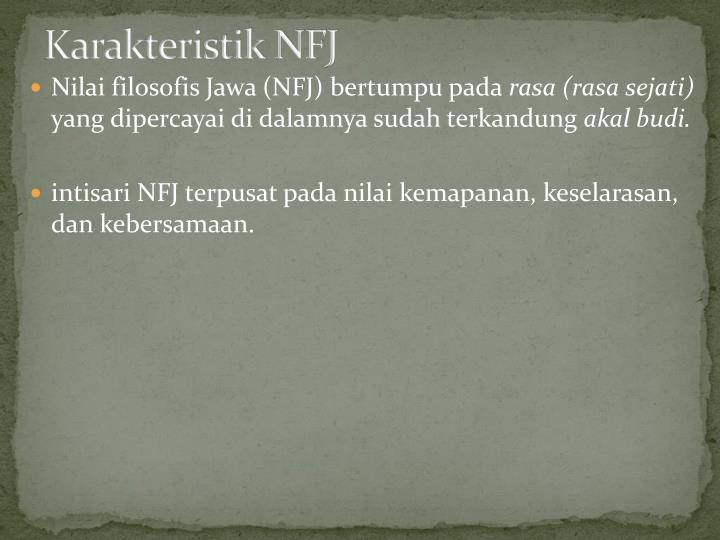 Karakteristik NFJ
