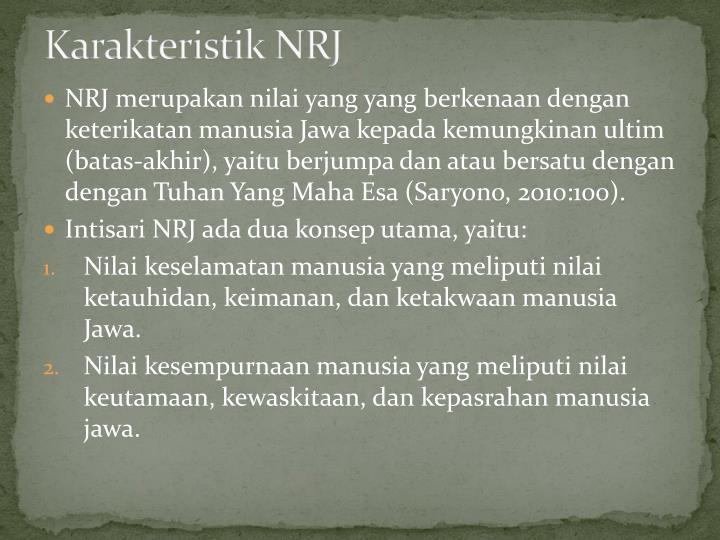Karakteristik NRJ