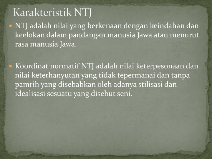 Karakteristik NTJ