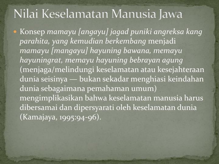 Nilai Keselamatan Manusia Jawa