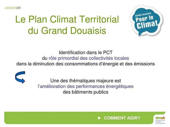 Le Plan Climat Territorial