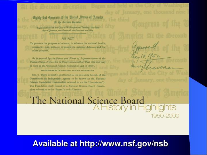 Available at http://www.nsf.gov/nsb