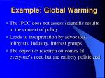 example global warming