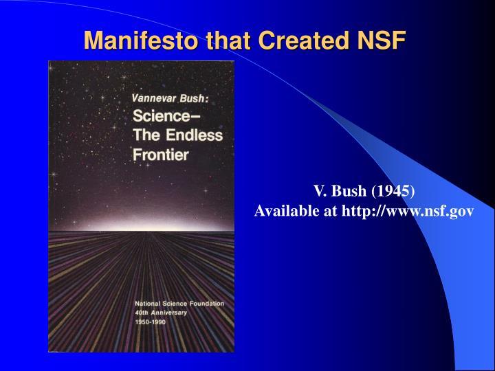 Manifesto that Created NSF