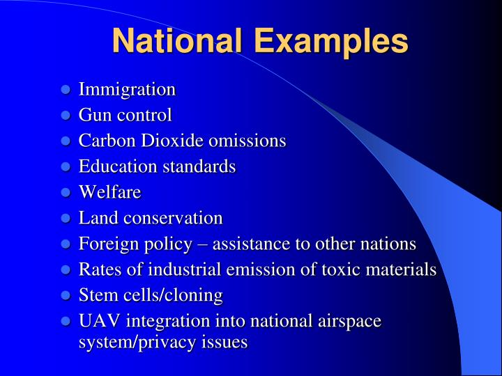 National Examples