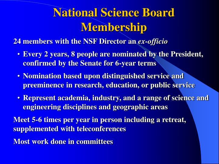 National Science Board Membership