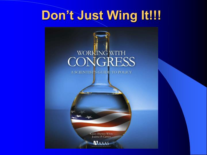 Don't Just Wing It!!!