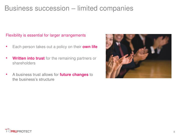 Business succession – limited companies