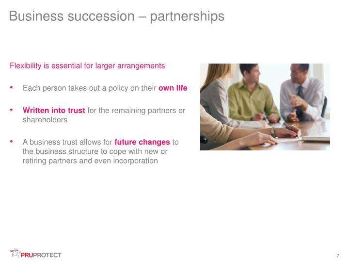 Business succession – partnerships