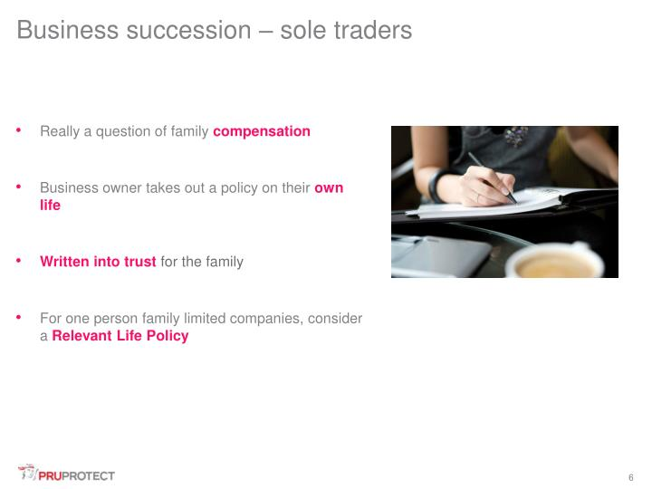 Business succession – sole traders