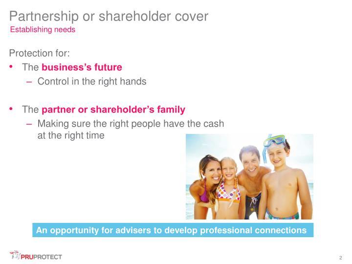Partnership or shareholder cover