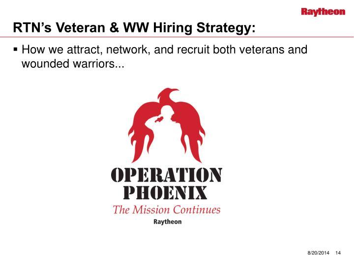 RTN's Veteran & WW Hiring Strategy: