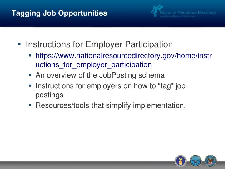 Tagging Job Opportunities