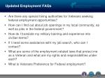updated employment faqs
