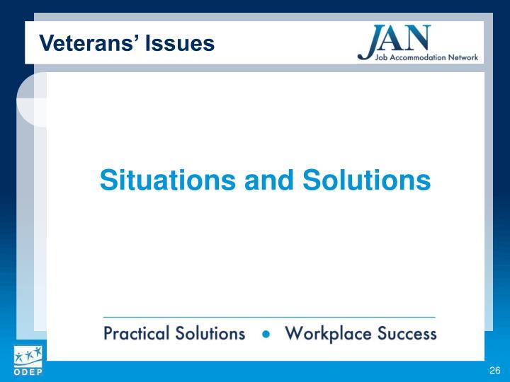 Veterans' Issues