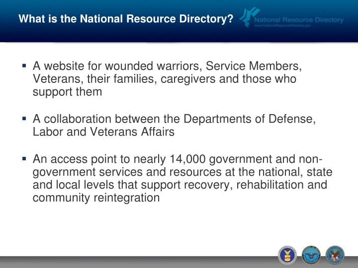 What is the National Resource Directory?