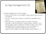 le tag management 2