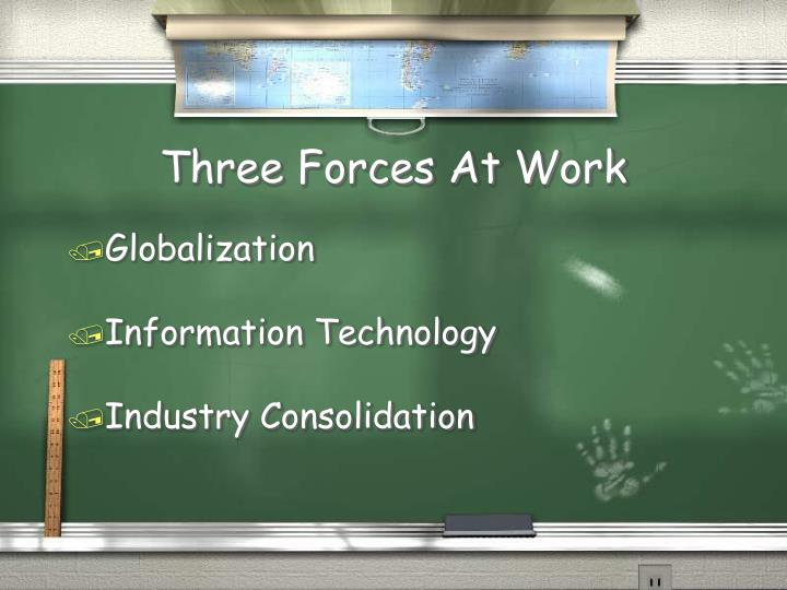 Three Forces At Work