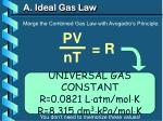 a ideal gas law